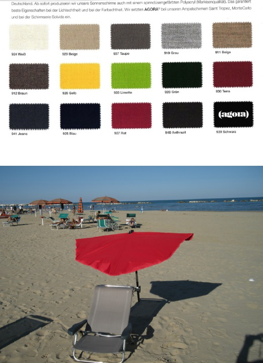 11. REISE-SET - holly sunshade Beach and Shore  Stuhl sand - Fächer  TERRA