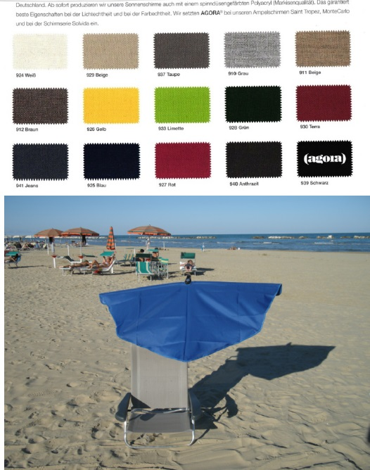 12. REISE-SET - holly sunshade Beach and Shore  Stuhl sand - F�cher  JEANS