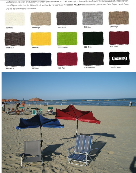 13. REISE-SET - holly sunshade Beach and Shore  Stuhl sand - F�cher  DUNKELBLAU