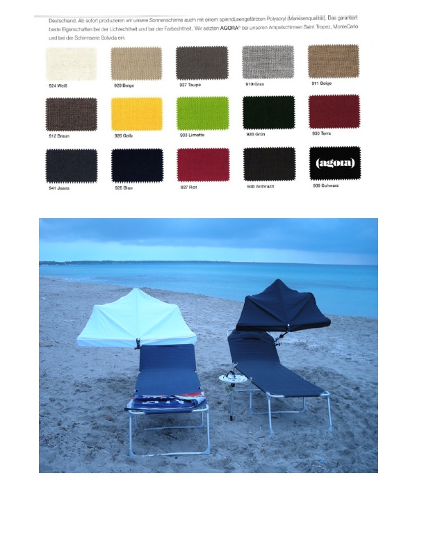 14. REISE-SET - holly sunshade Beach and Shore  Stuhl sand - F�cher  ANTHRAZIT
